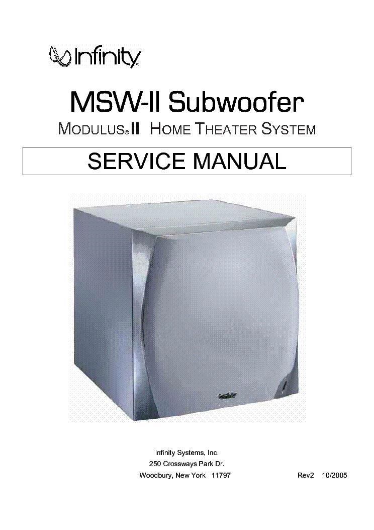 Infinity modulus msw 1