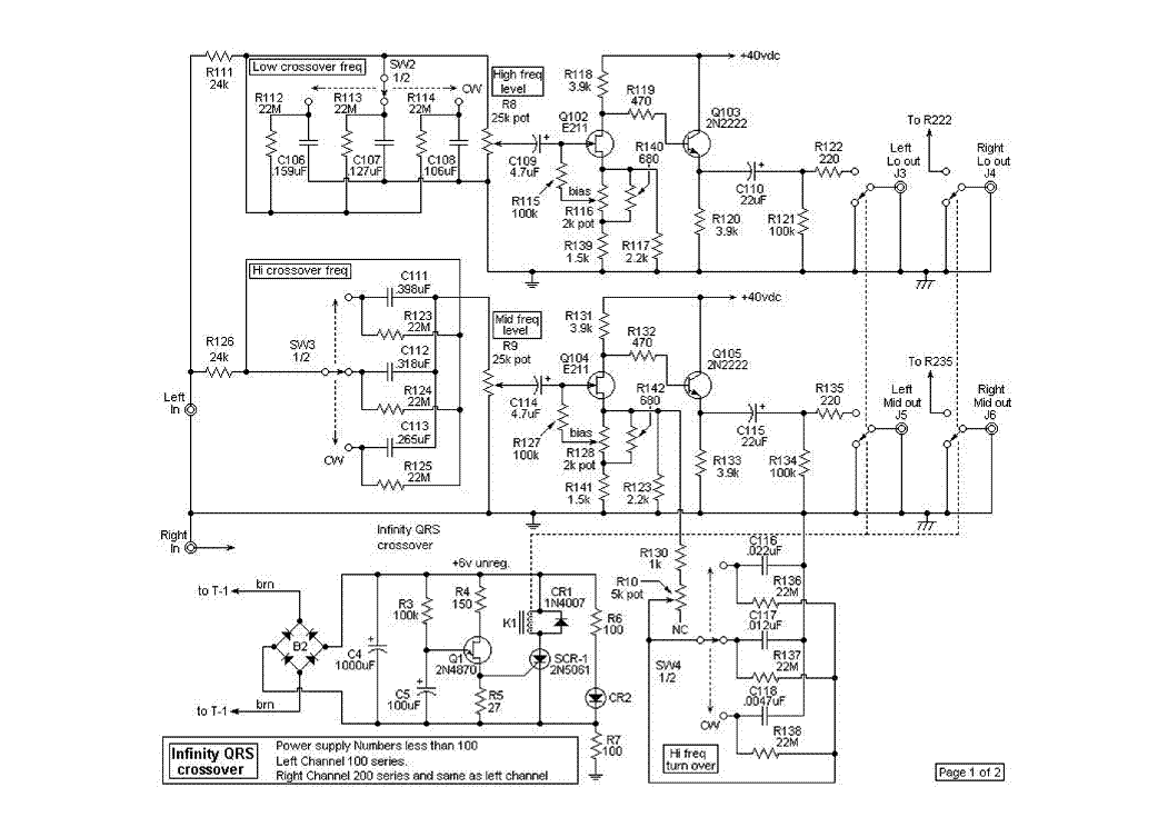 audio speaker crossover diagram