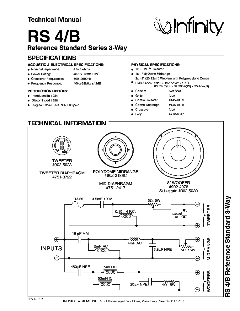 Infinity Rs B W Speaker System Sm Pdf on Toyota Forklift Ke Parts Diagram