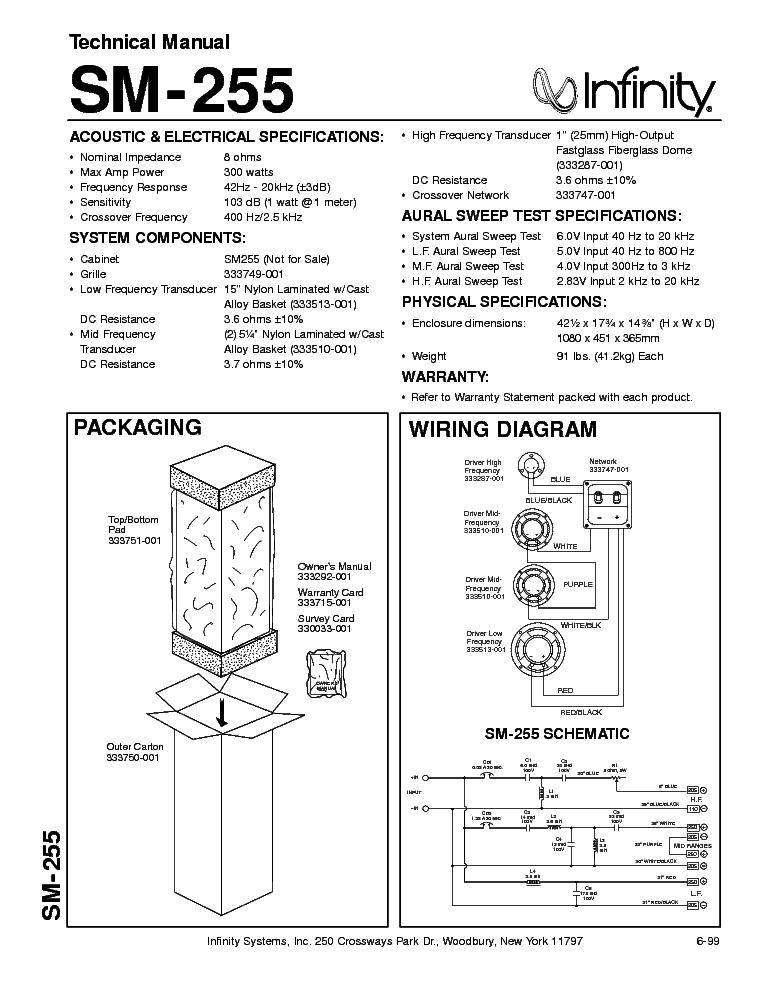 Infinity Sm 255 Speaker Service Manual Free Download