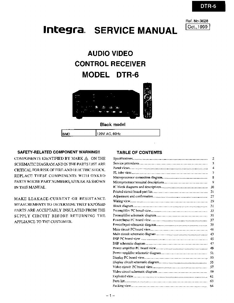 integra onkyo dtr 6 sm service manual download schematics eeprom rh elektrotanya com integra service manual free honda integra service manual