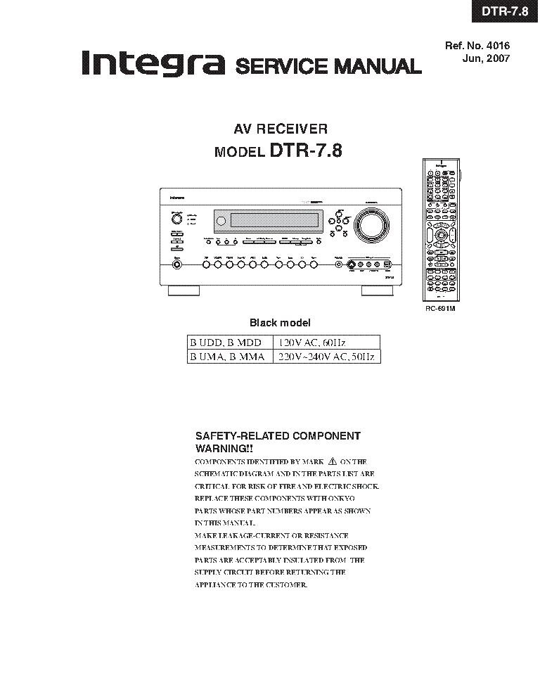 integra onkyo dtr 7 8 sm service manual download schematics eeprom rh elektrotanya com acura integra service manual pdf acura integra service manual