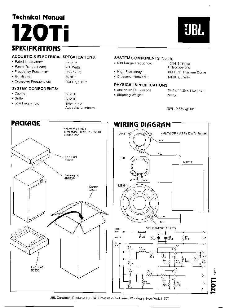 jbl 120ti sm service manual download  schematics  eeprom  repair info for electronics experts