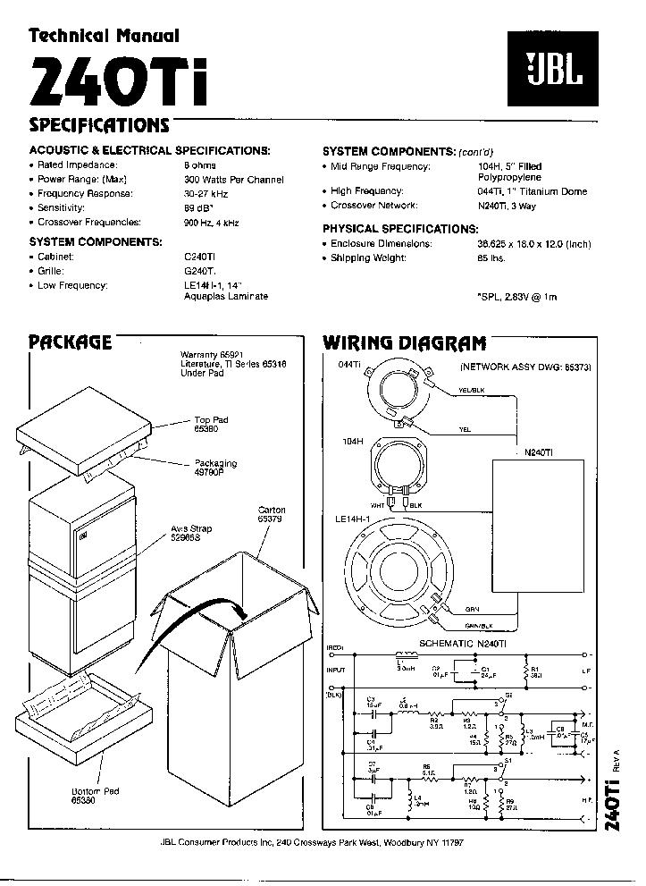 jbl 240ti sm service manual download  schematics  eeprom