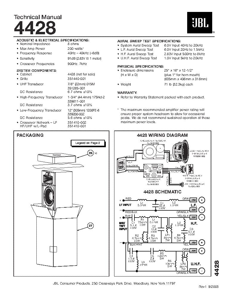 Jbl 4428 service manual download, schematics, eeprom, repair info.