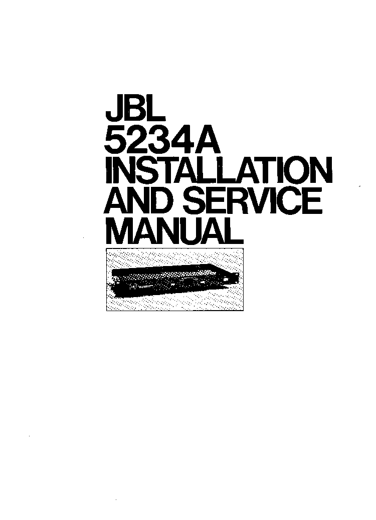 JBL 5234A SM ACTROSS service manual (1st page)