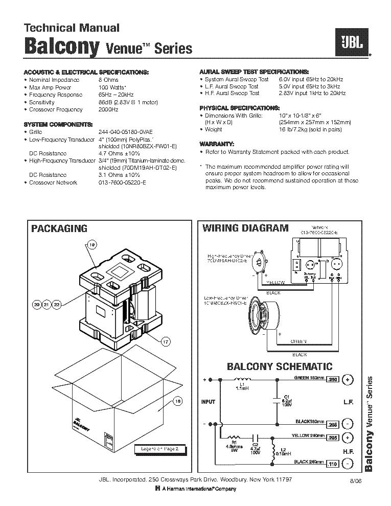 JBL EON 515XT Service Manual download, schematics, eeprom ... Jbl Crossover Schematic on