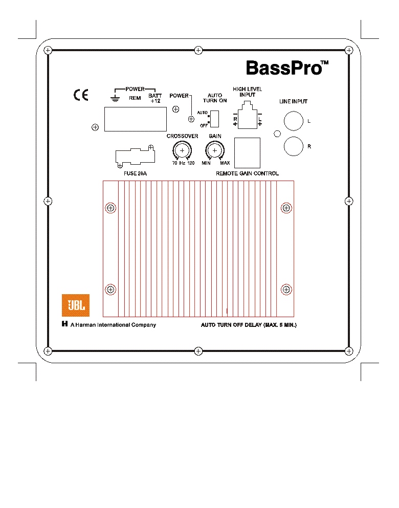 JBL BASSPRO service manual (2nd page)