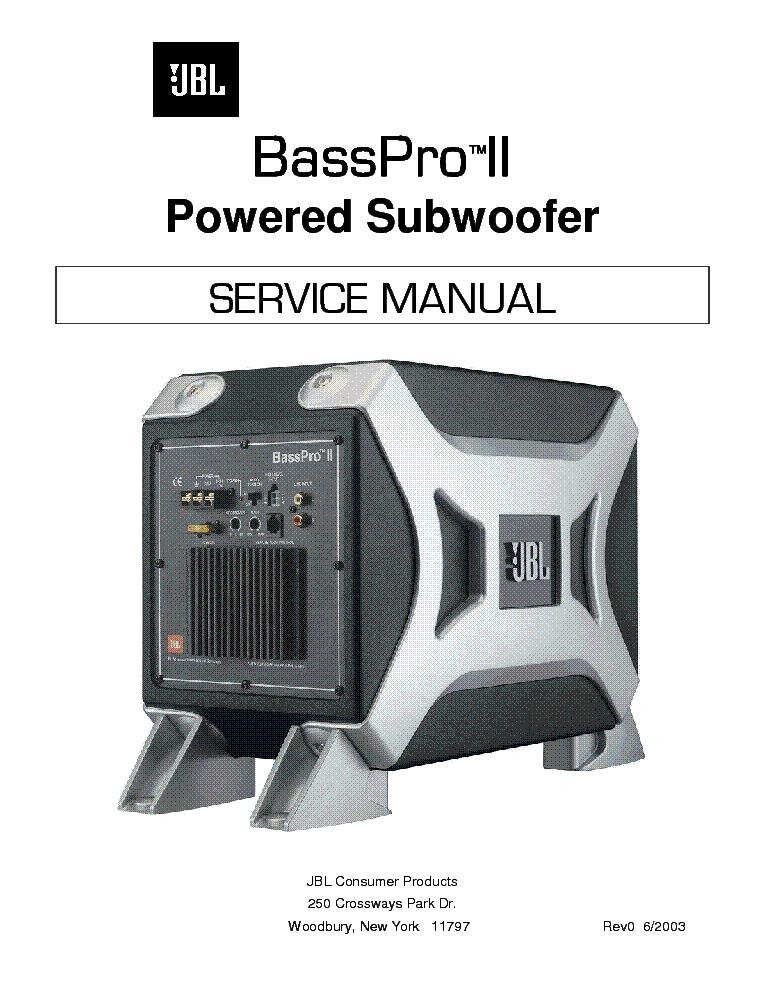 jbl basspro ii sm service manual download  schematics