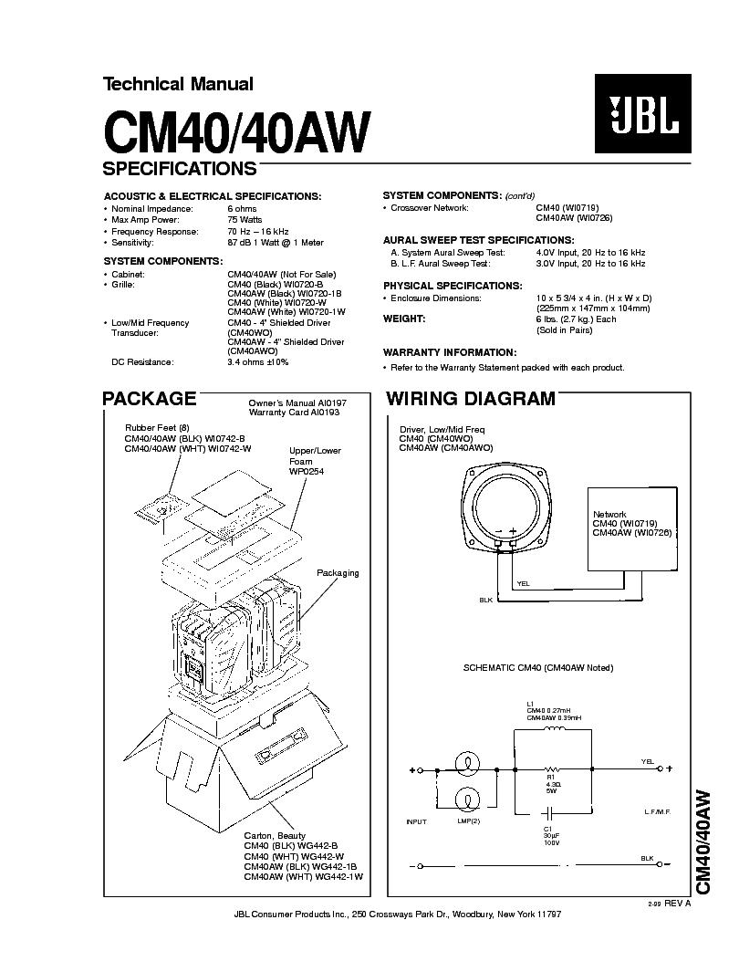 jbl mr-15b manual pdf