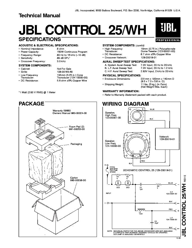 Jbl Crossover Wiring Diagram | Machine Repair Manual on