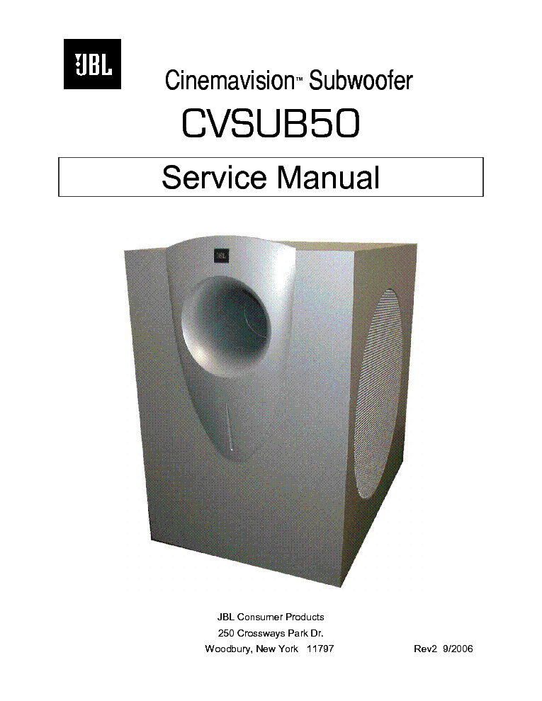 jbl control 25 25wh service manual free download