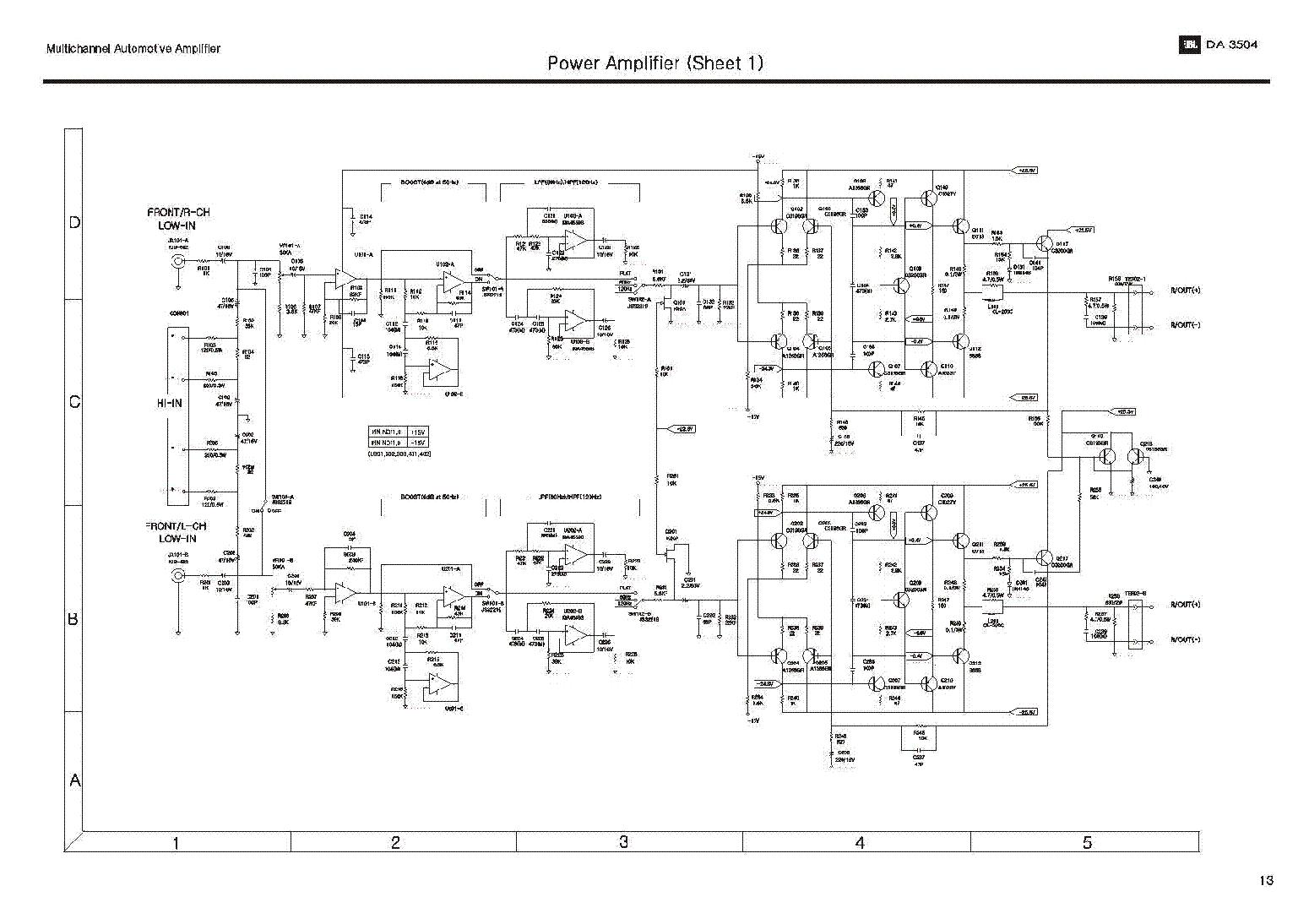 Jbl 500 series Manual