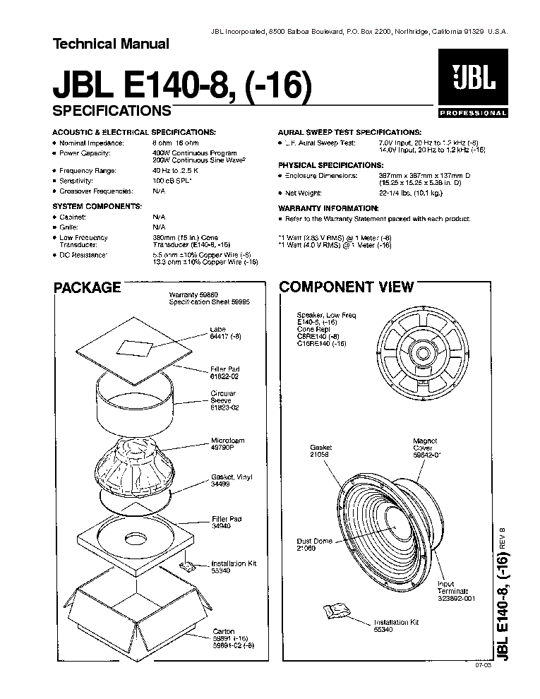 jbl ps 100 powered subwoofer ps 60 100 120 sm service. Black Bedroom Furniture Sets. Home Design Ideas