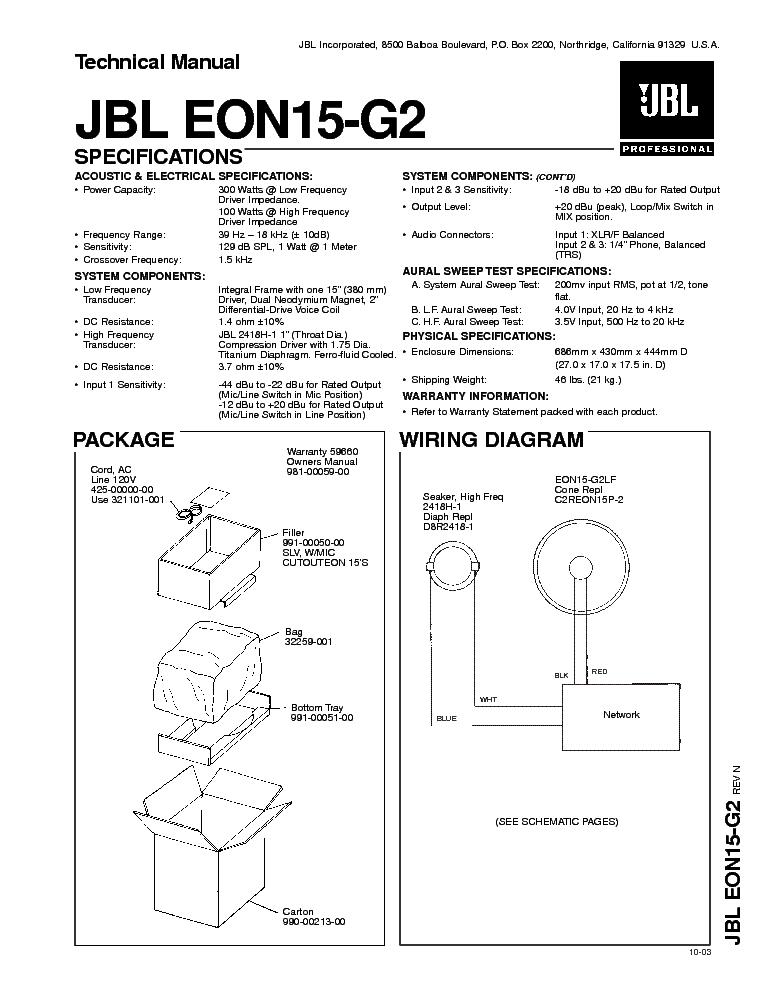 jbl eon15 g2 full sm service manual download schematics eeprom rh elektrotanya com jbl eon 10 g2 manual jbl eon15 g2 service manual