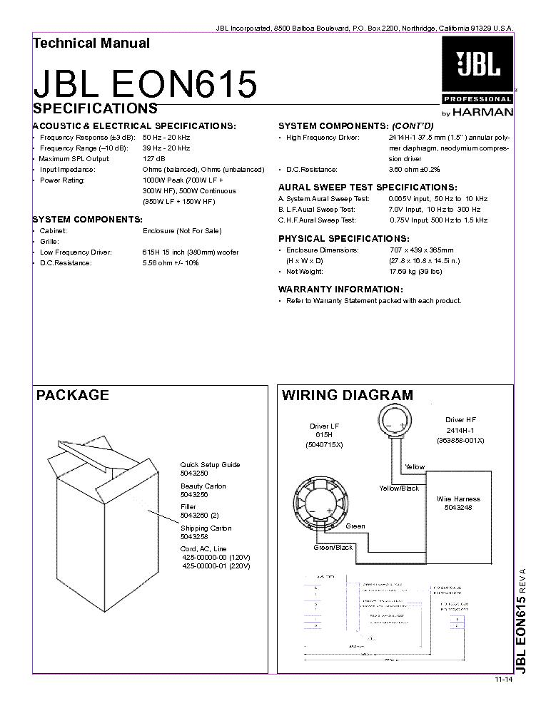 jbl eon615 service manual download schematics eeprom repair info rh elektrotanya com jbl eon 515 xt manual pdf jbl eon service manual