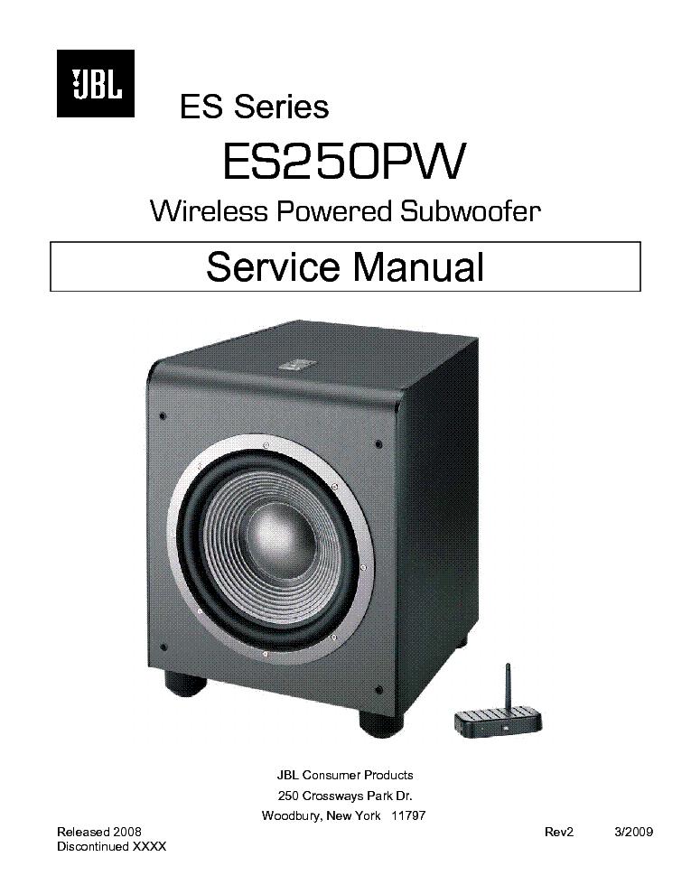 jbl es250pw subwoofer service manual service manual download schematics eeprom repair info. Black Bedroom Furniture Sets. Home Design Ideas
