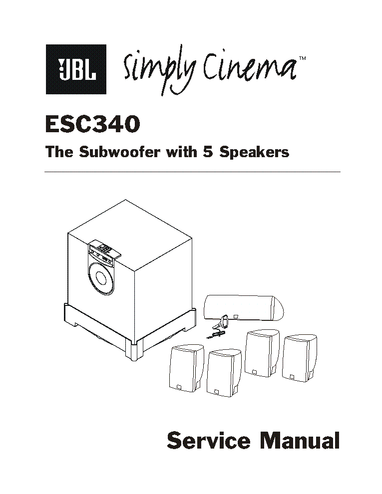 JBL ESC-340 service manual (2nd page)