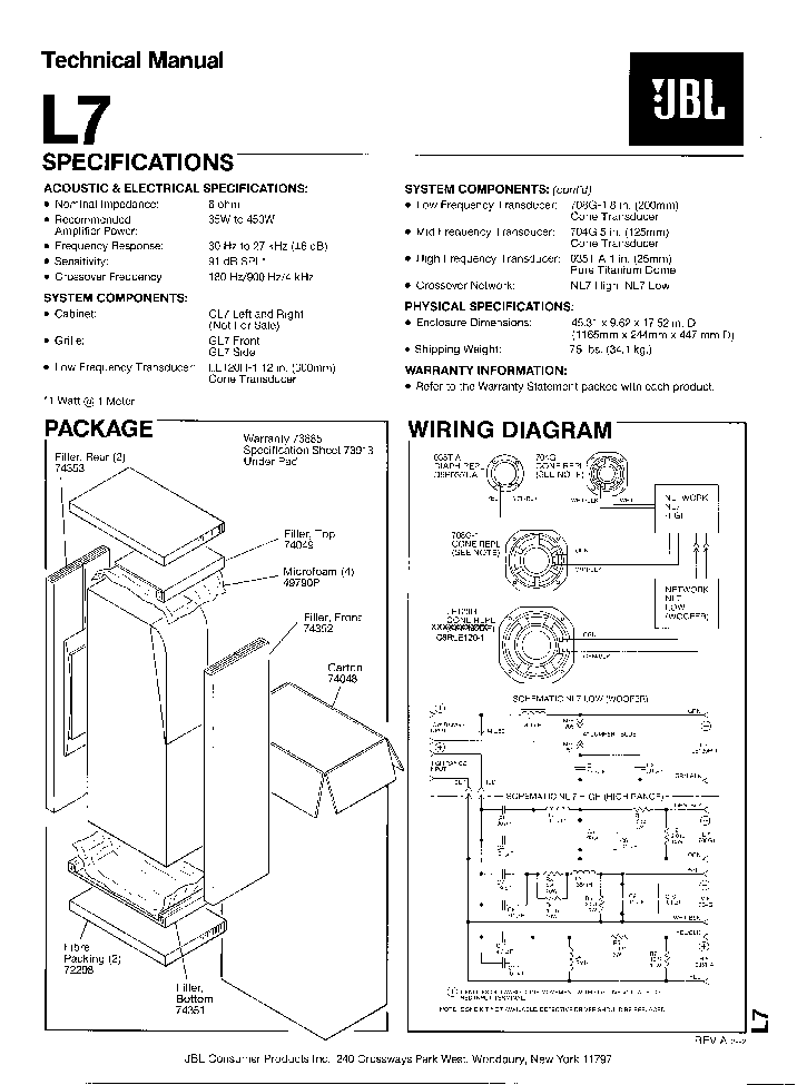 jbl l8400p sm service manual free download  schematics  eeprom  repair info for electronics