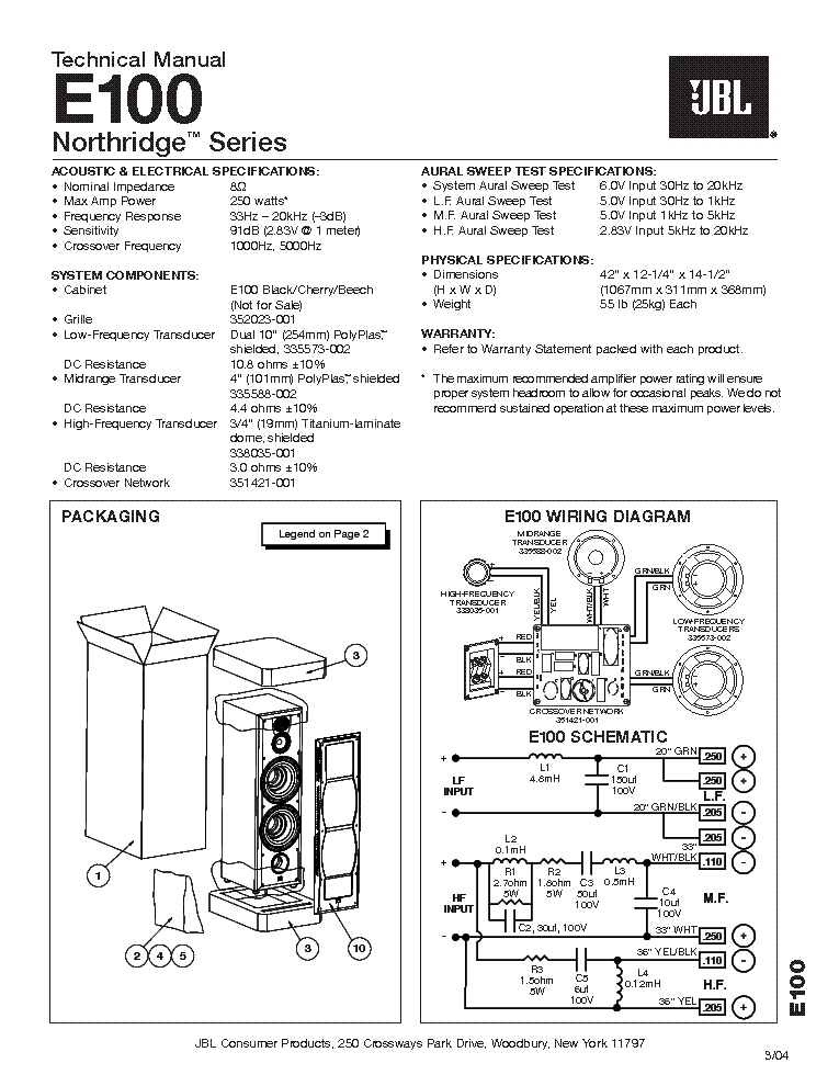Jbl S4hc Sm Service Manual Free Download Schematics