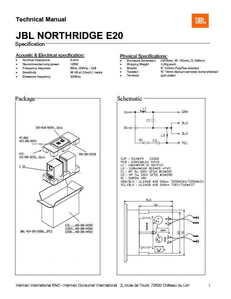Jbl Subwoofer Wiring Diagram : Jbl eon wiring diagrams excel diagram