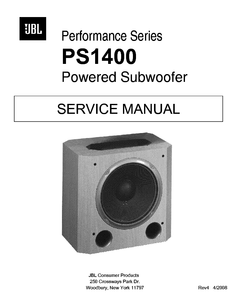 jbl cinema sb400 service manual download  schematics jbl psw-1000 user manual Subwoofer Box