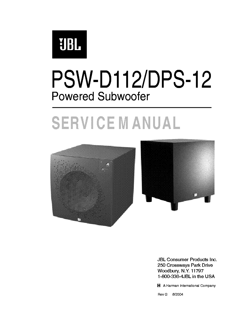 jbl 5101 b preamplifier driver sch service manual free jbl psw 1000 subwoofer manual JBL PSW 1000 Subwoofer Specifications