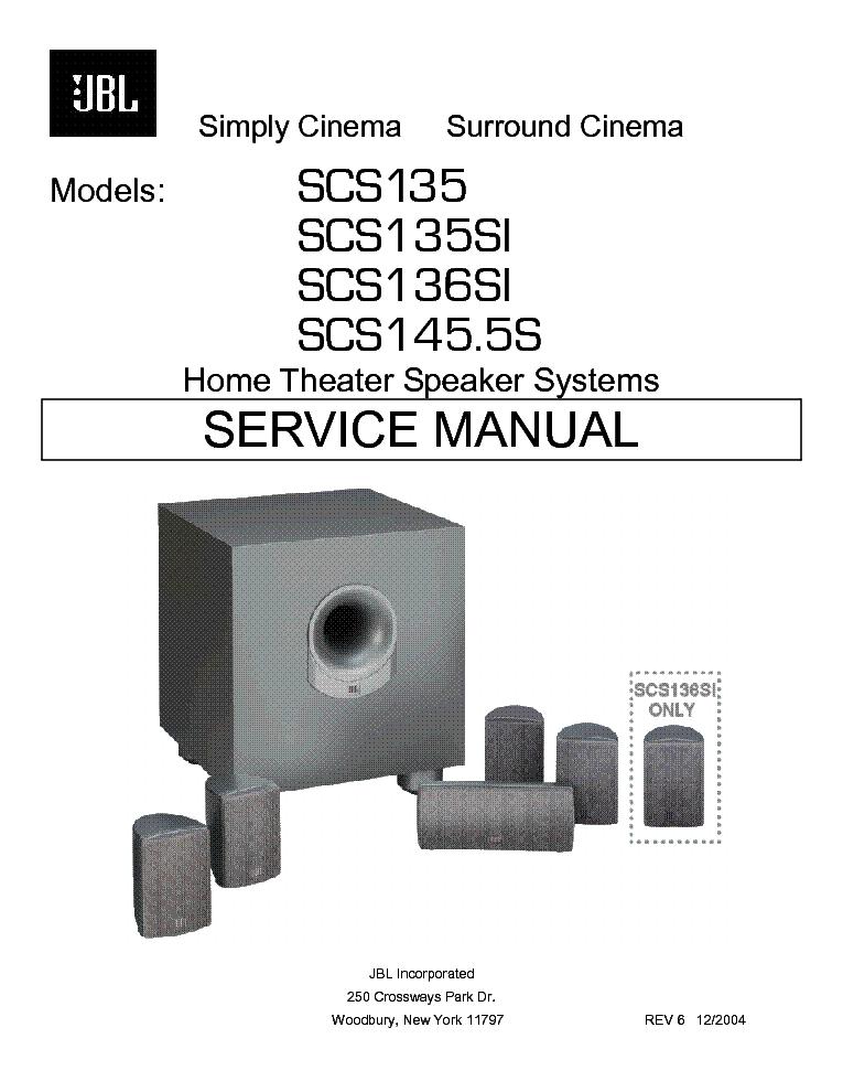 JBL CF-150 325W SPEAKER SYSTEM SM Service Manual free download ...