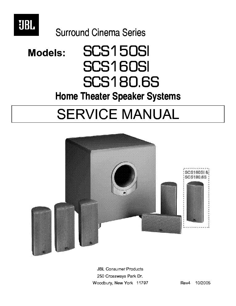 Jbl Scs150si Scs160si Scs180 6s Sm Service Manual Download