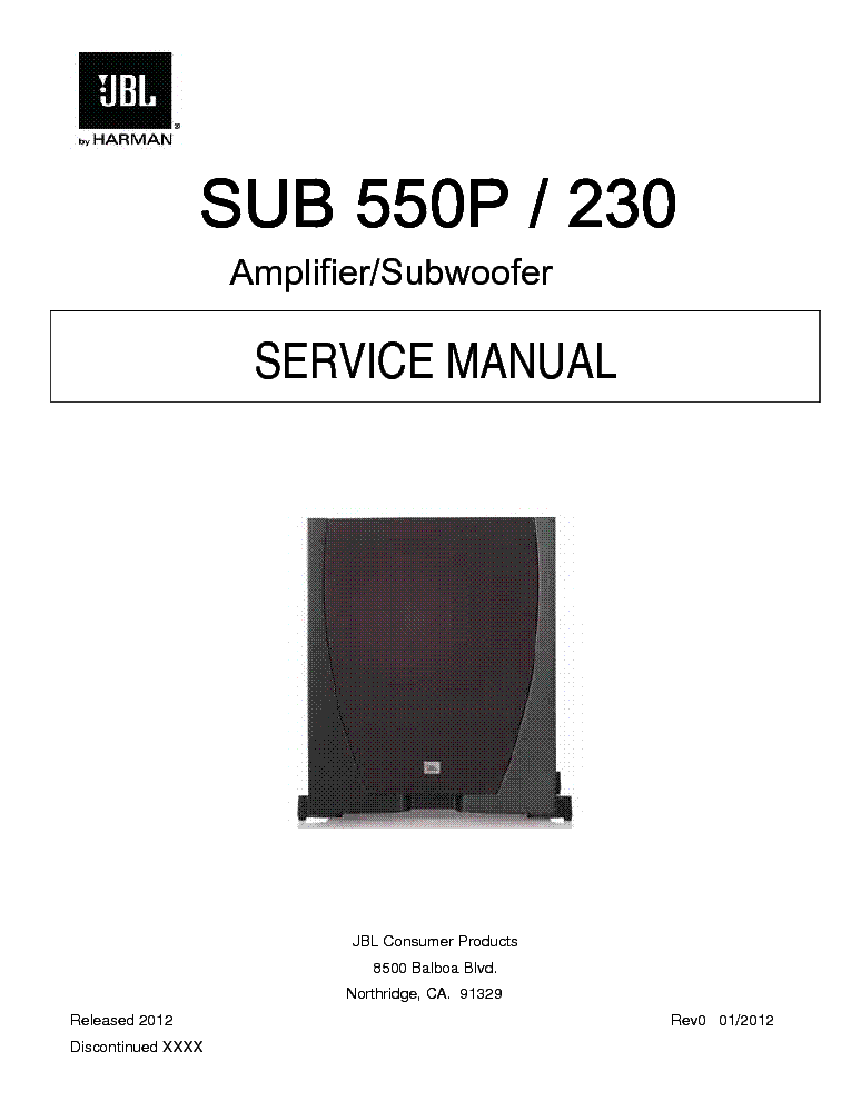 JBL SCS150SI SCS160SI SCS180.6S SM Service Manual free download ...