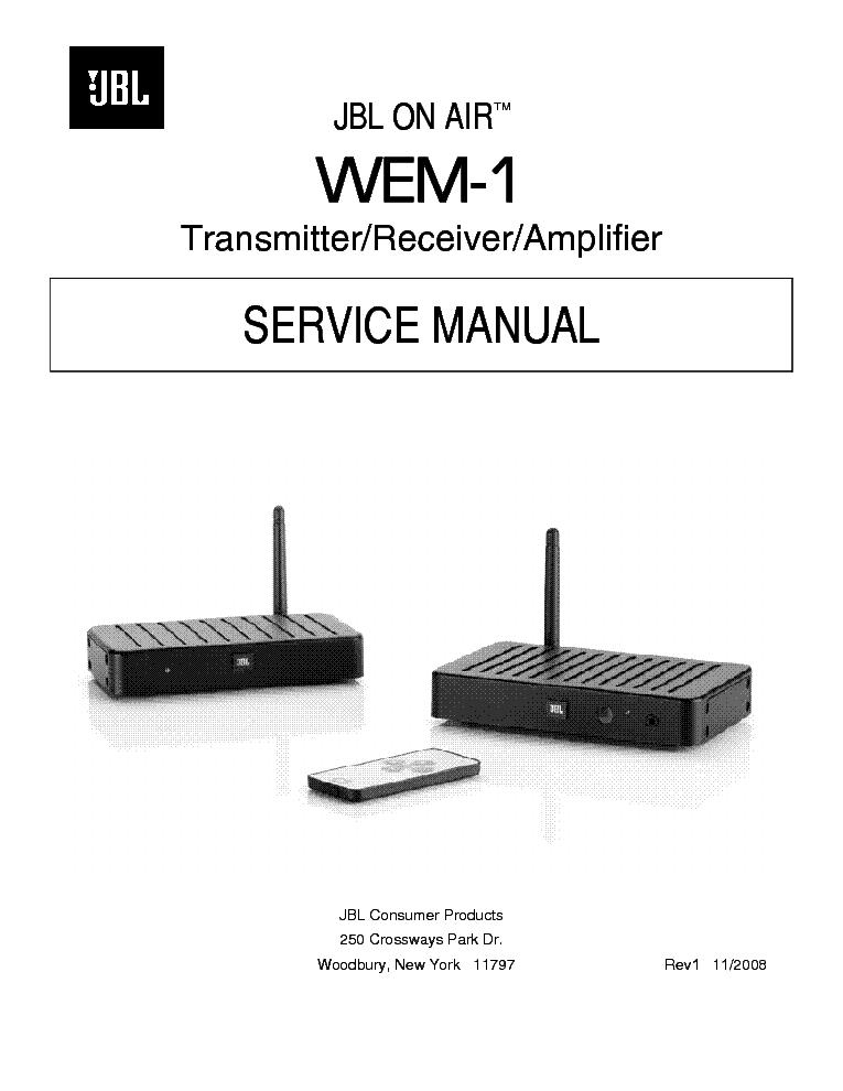 Jbl wem-1 sm service manual download, schematics, eeprom, repair.