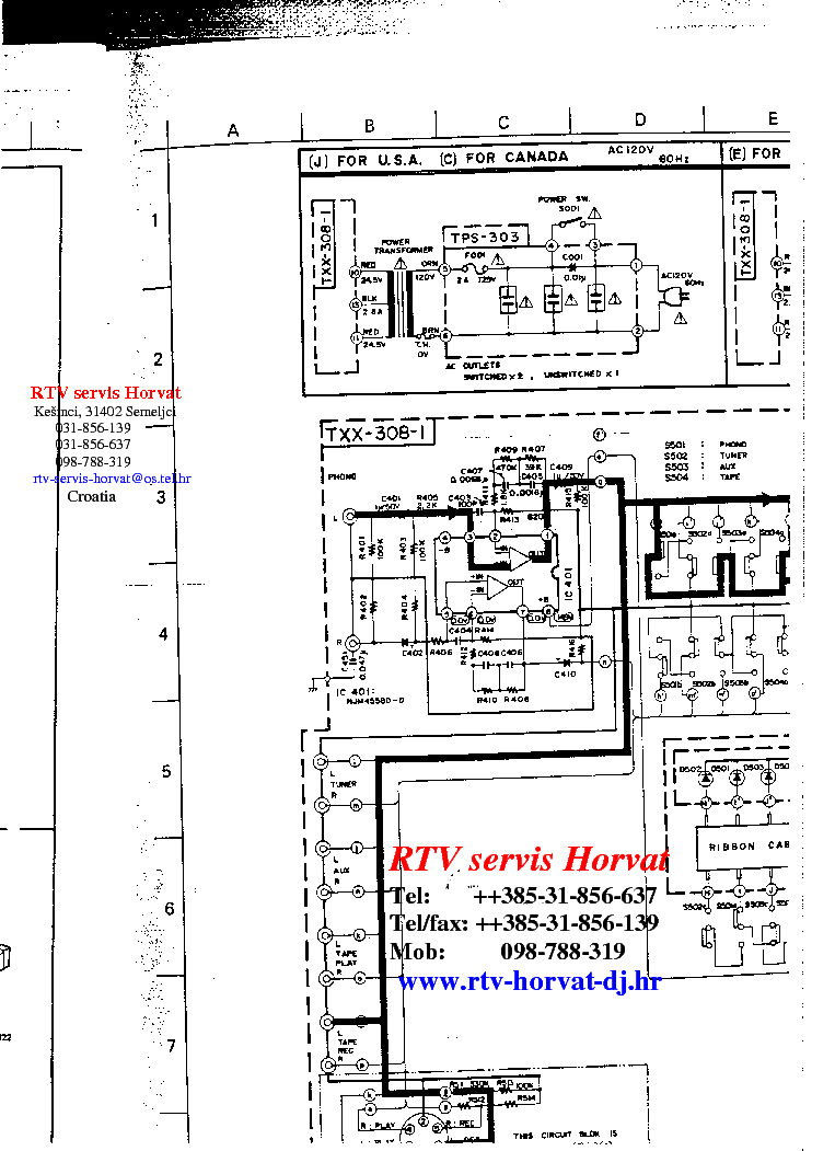 Jvc A 10x Service Manual Download Schematics Eeprom Repair Info Schematic Diagram 1st Page