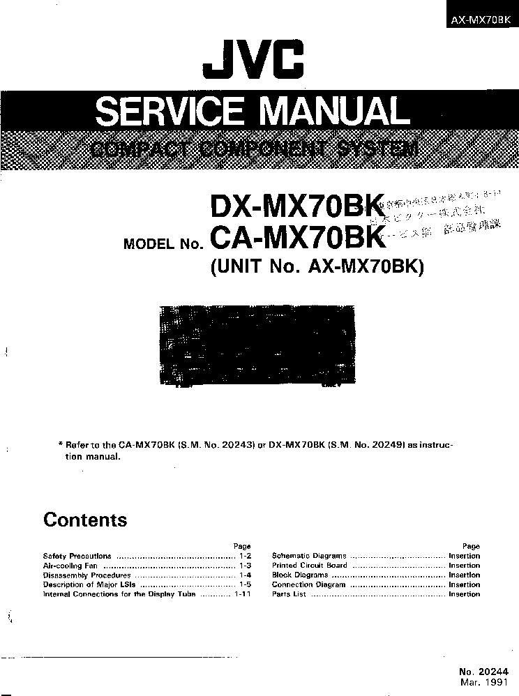 jvc ax mx70bx ca mx70bk service manual download schematics eeprom rh elektrotanya com jvc l a110 turntable repair manual jvc l a110 turntable repair manual