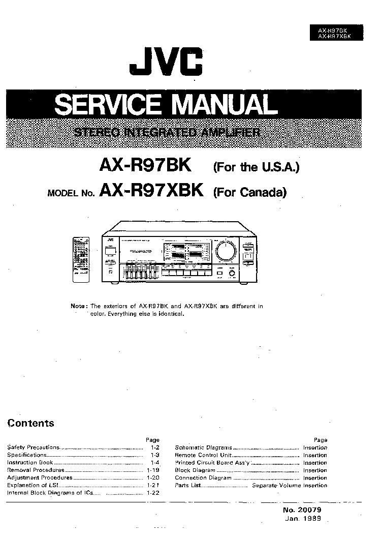 Jvc Ax z1010 Service manual