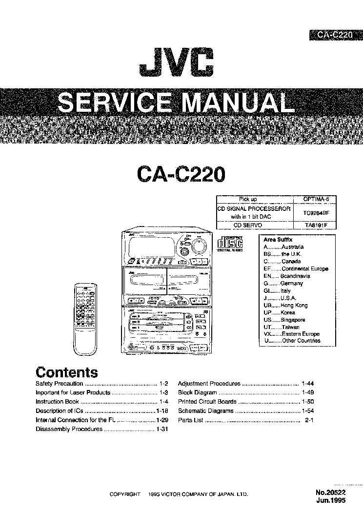 repair manual jvc dx e95tn compact component system