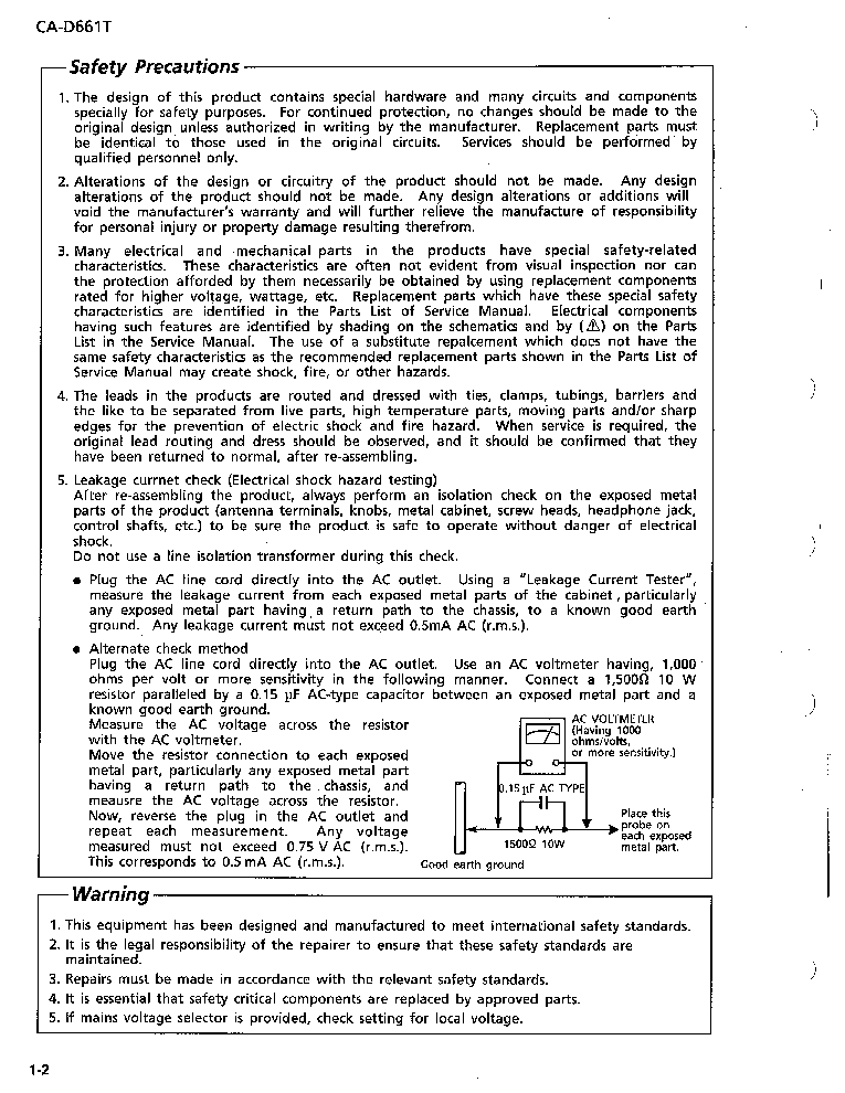 JVC CA-D661T service manual (2nd page)