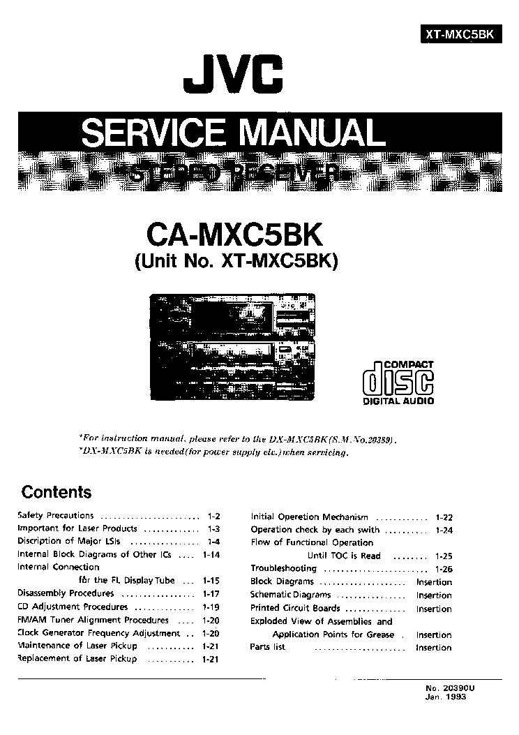 jvc ca mxc5bk sm service manual download schematics eeprom repair rh elektrotanya com