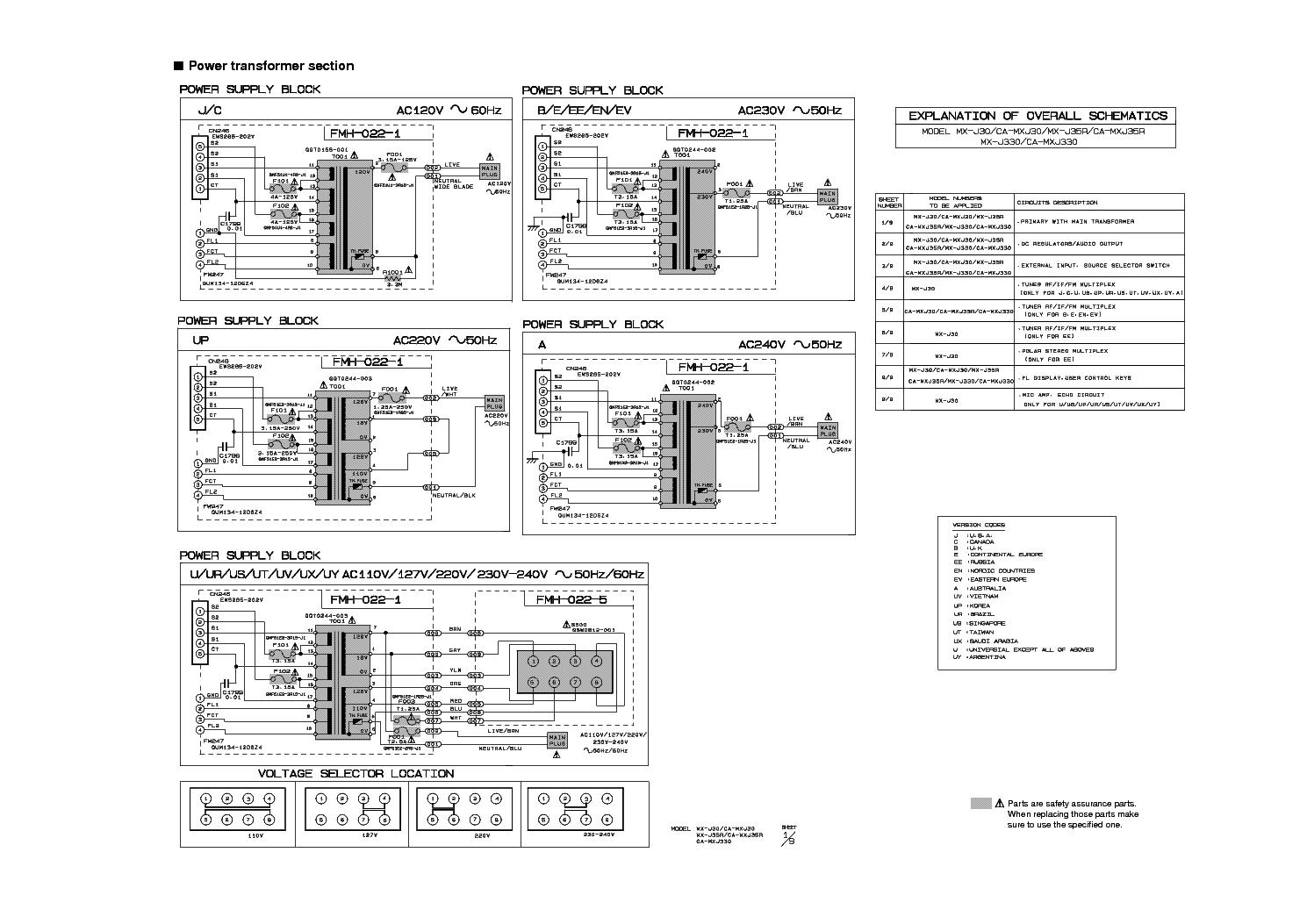 JVC CA-MXJ30 SCH service manual (1st page)