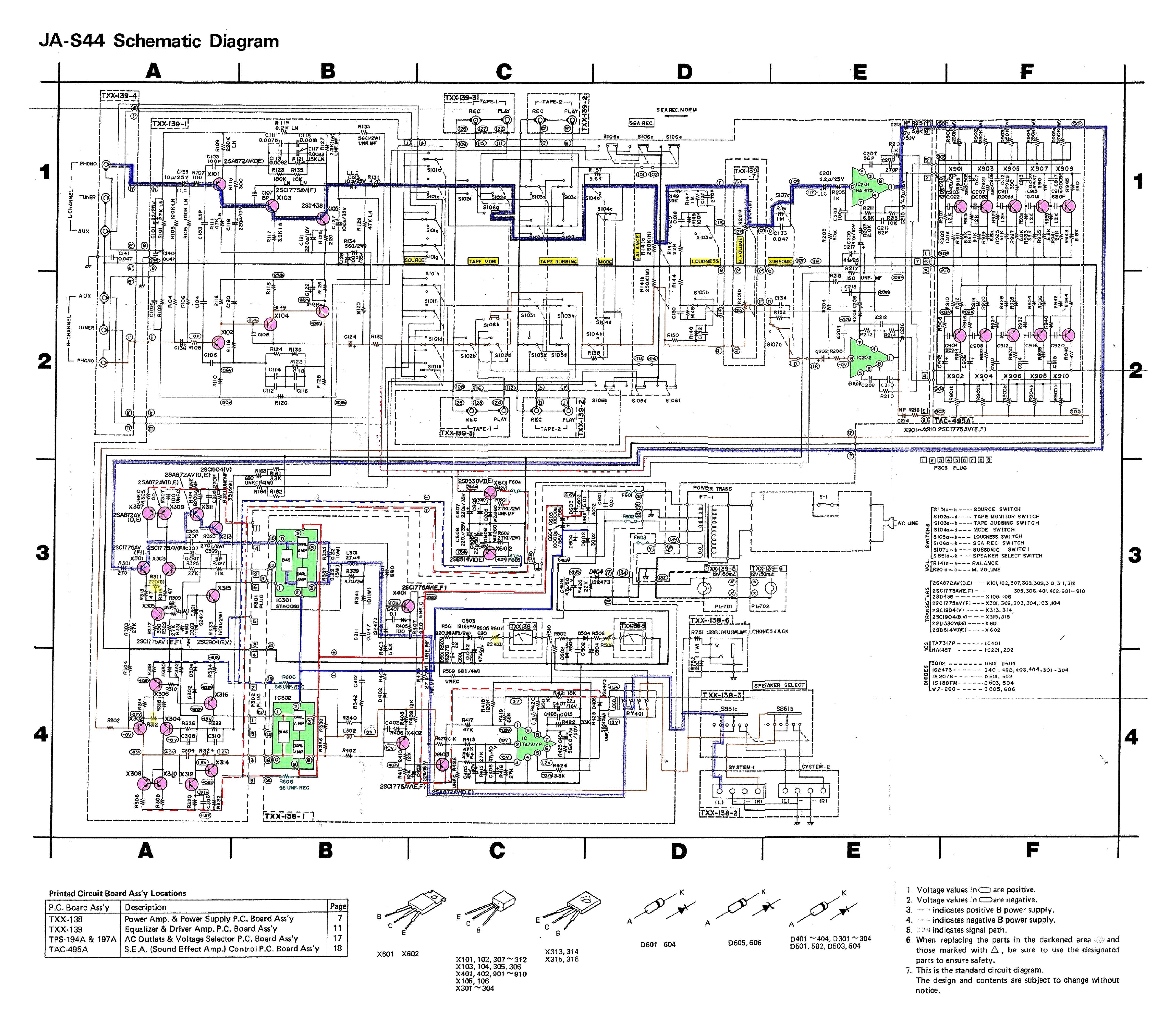 Jvc a-x55 amplifier service manual | service manuals-pdf.