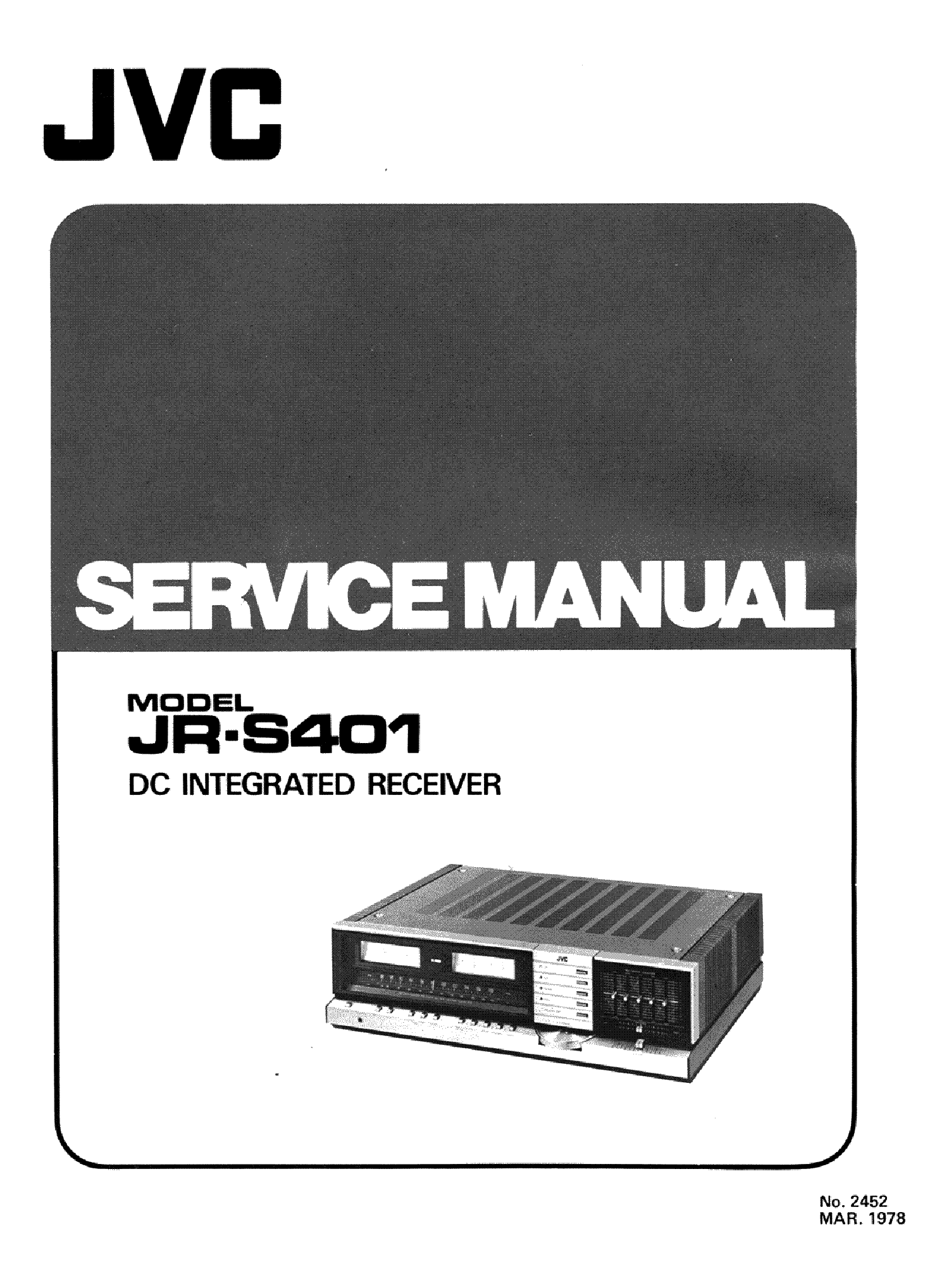 JVC JR-S401 service manual (1st page)
