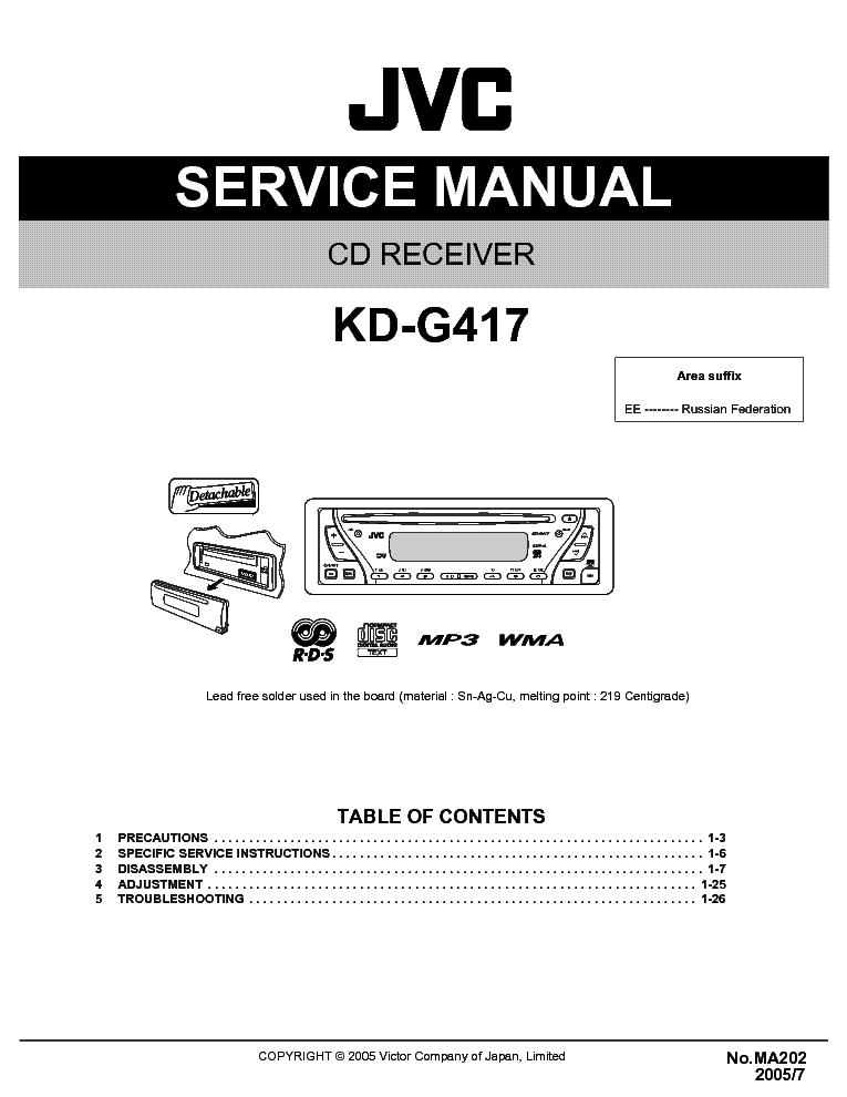 инструкция к jvc kd-g417