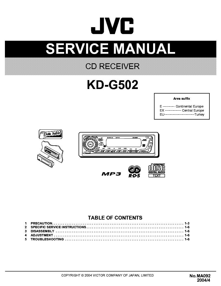 jvc kd g502 инструкция