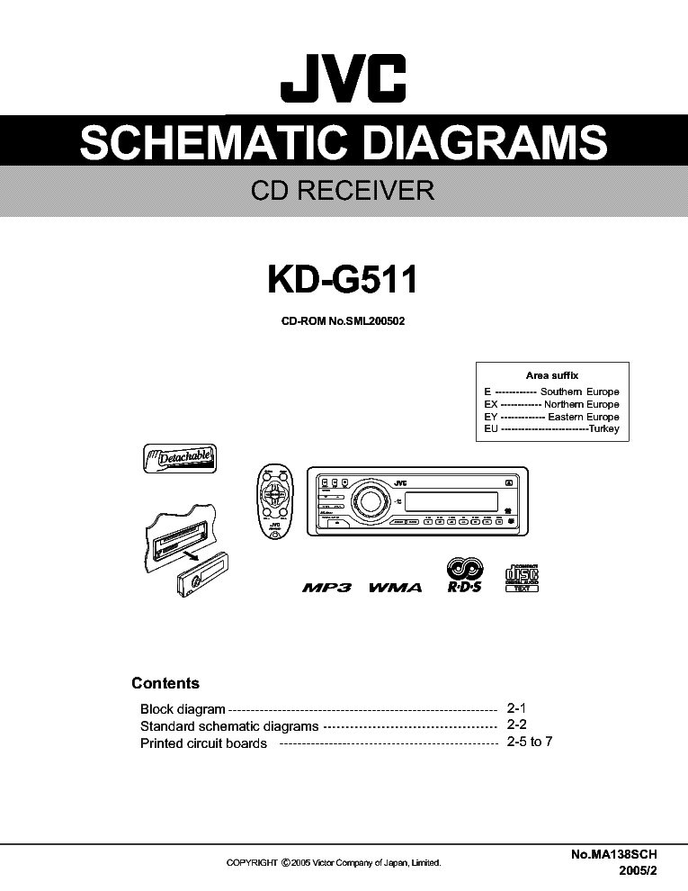 jvc_kd g511_scha.pdf_1 jvc rx 217tn service manual download, schematics, eeprom, repair jvc kd-g502 wiring diagram at n-0.co