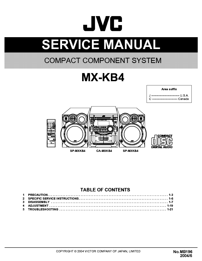 JVC MX-KB4 SM service manual (1st page)