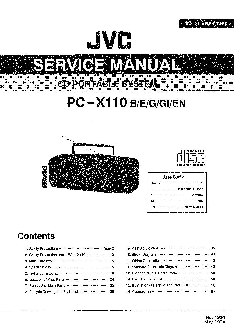 jvc pc x110 service manual download schematics eeprom repair info rh elektrotanya com