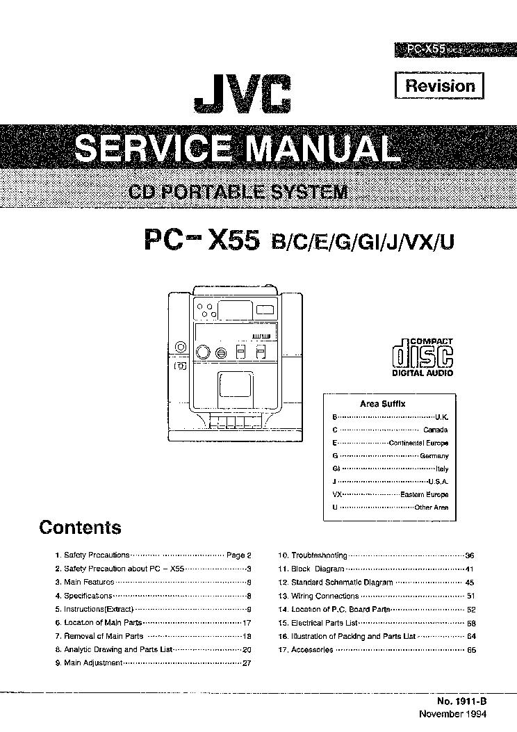 jvc pc x55 service manual download schematics eeprom