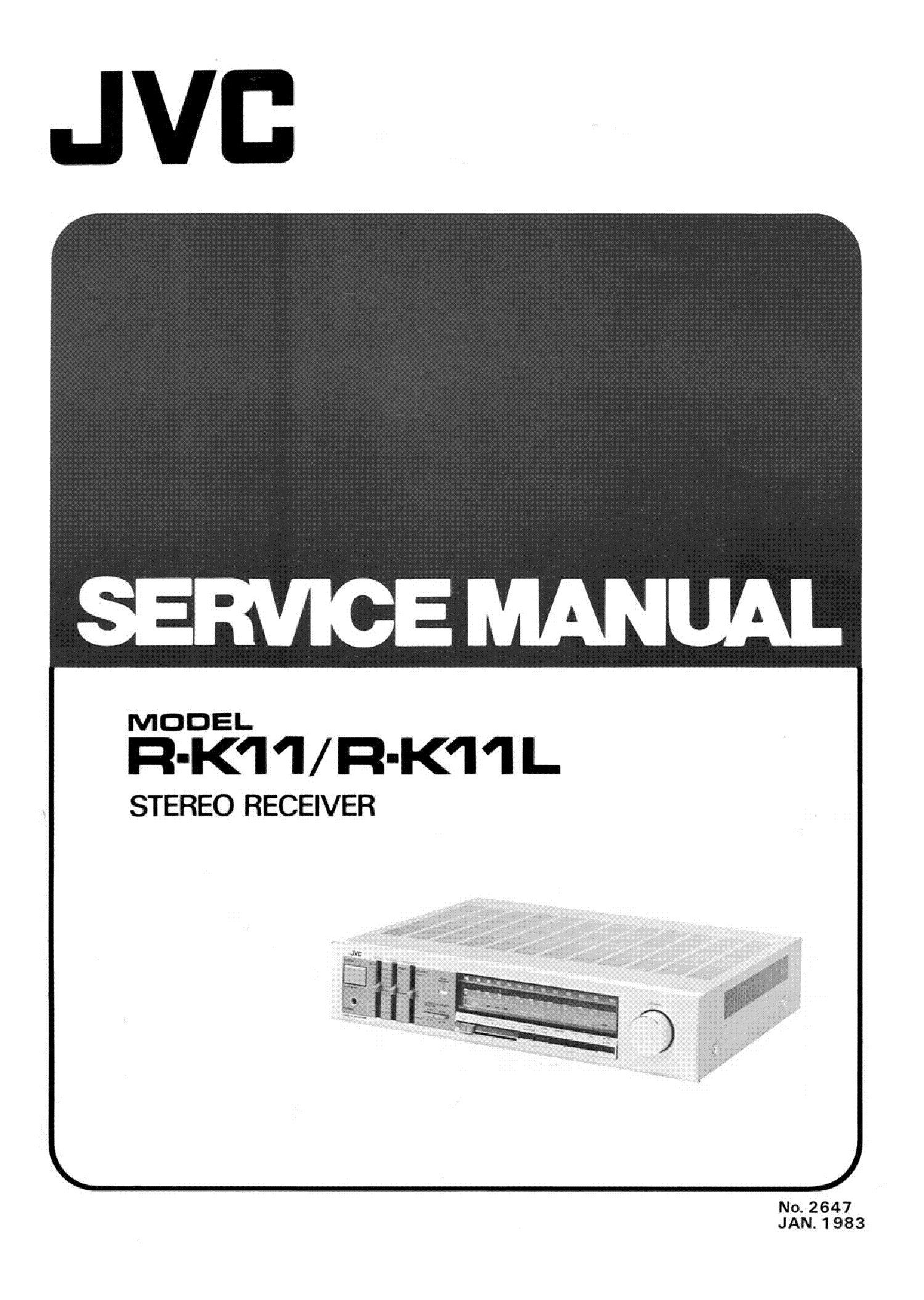 JVC R-K11 R-K11L 2X35W STEREO RECEIVER 1983 SM service manual (1st