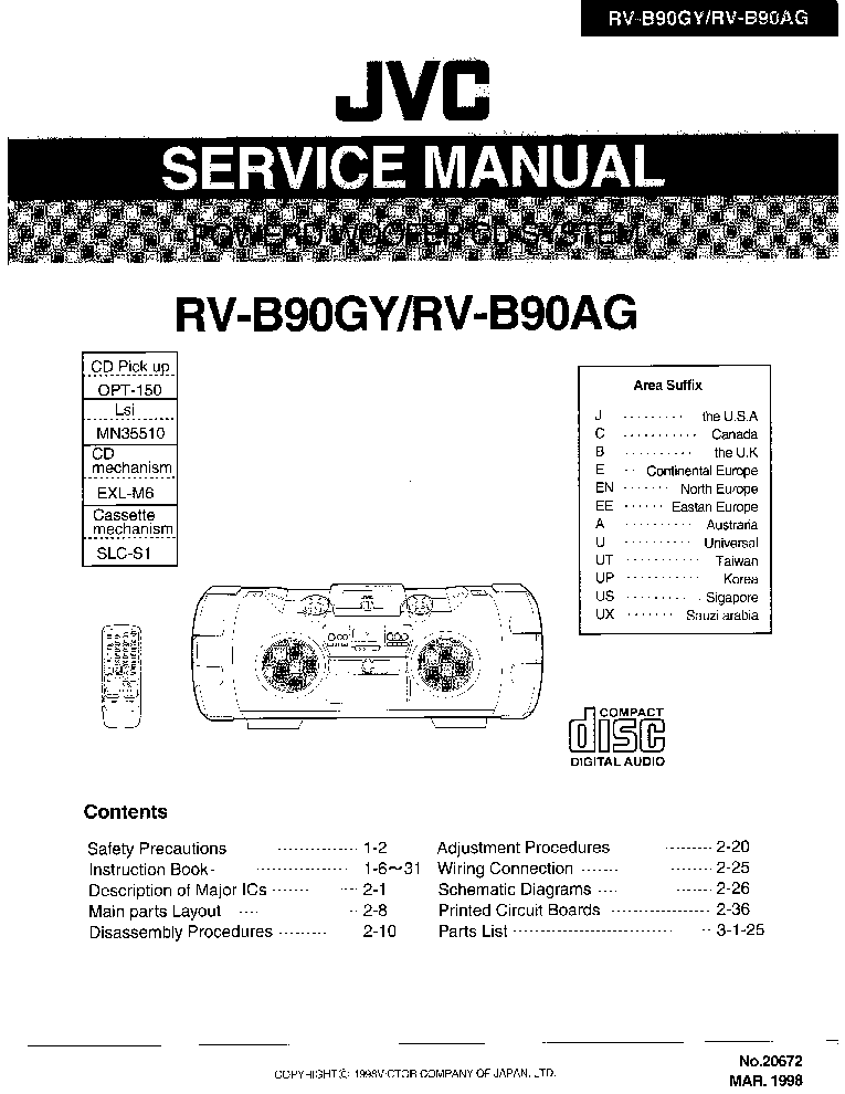 jvc rv b90gyu service manual download schematics eeprom repair rh elektrotanya com jvc vcr repair manual jvc tv repair manual