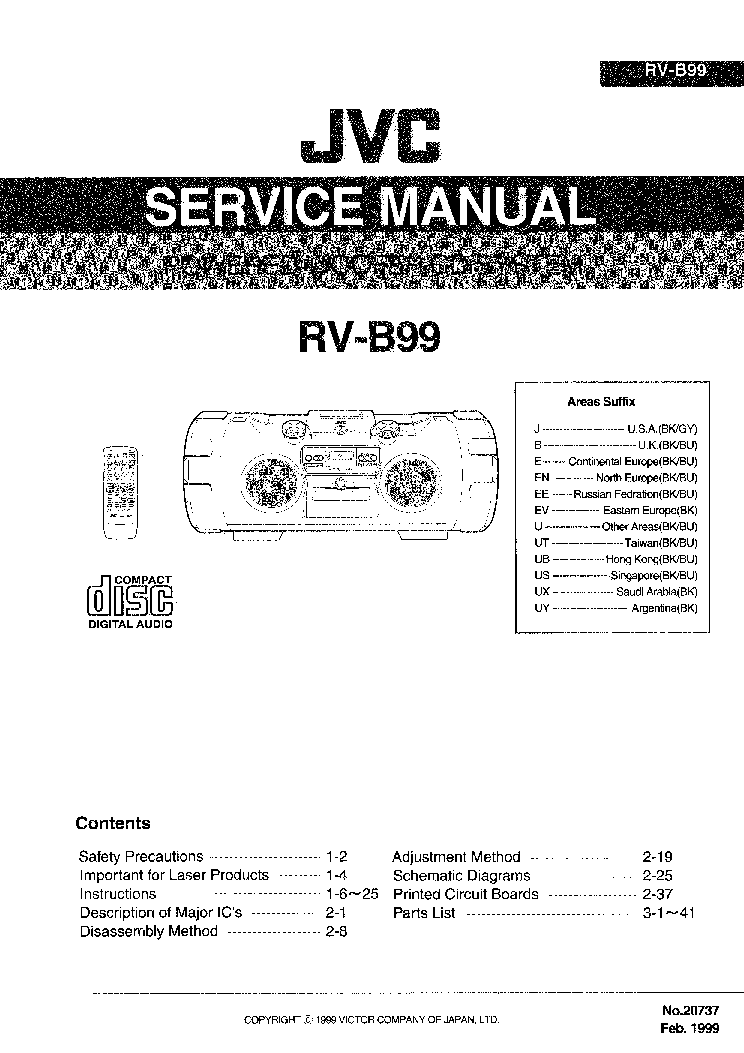 jvc rv b55 service manual download