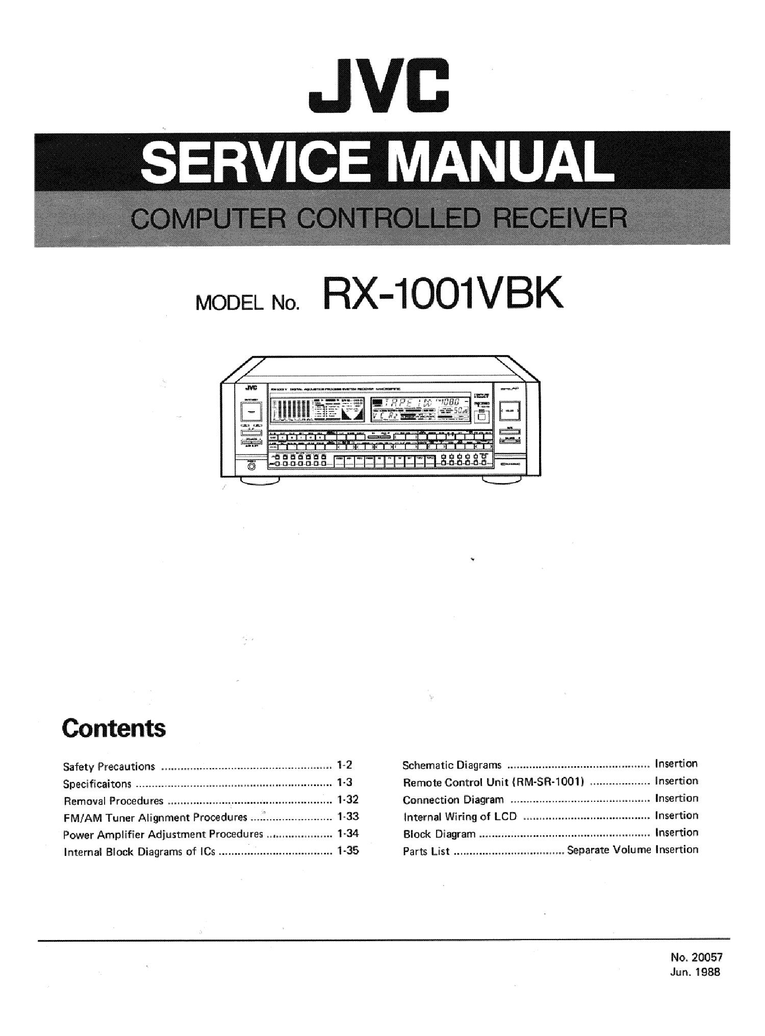 JVC RX-1001VBK SM service manual (1st page)
